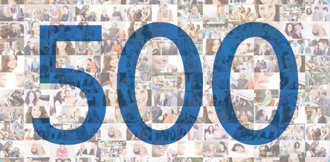 2014 | 500 abgeschlossene Invisalign-Behandlungen