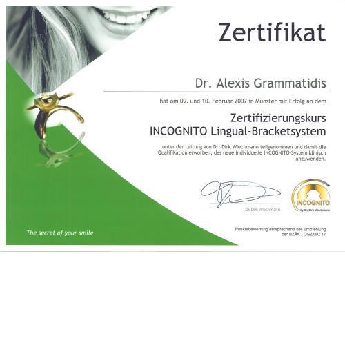 Incognito Lingualtechnik dürfen nur zertifizierte Anwender verwenden.