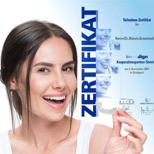 Transparente Zahnschienen besser nur beim Kieferorthopäden